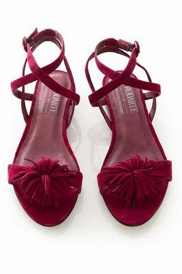 rodarte for open ceremony: Shoes Crushes, Opening Ceremony, Open Ceremony, Rodart Flats, Wedding Shoes, Manjo Style, Pom Sandals, Burgundy Sandals, Ceremony Pom