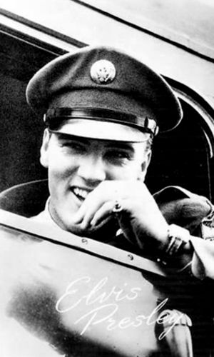 Great photo of Elvis leaving for the U.S. Army.