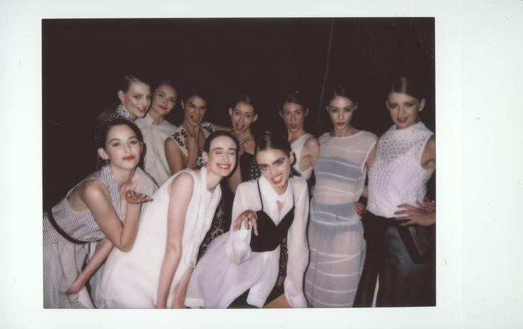 taylor 'Incision' collection at NZFW - models backstage pre-show