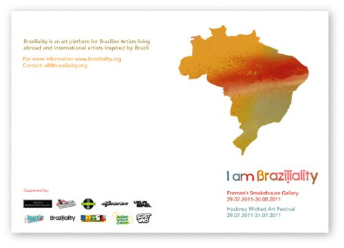 """I am Braziliality"" poster design"