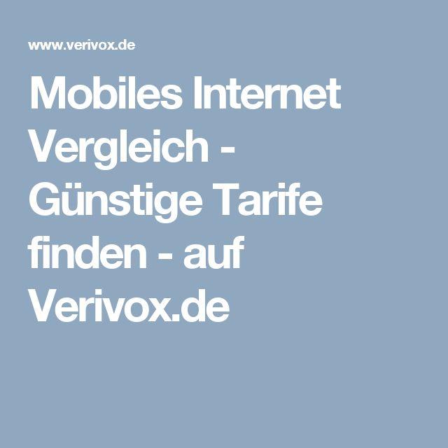 Mobiles Internet Vergleich - Günstige Tarife finden - auf Verivox.de
