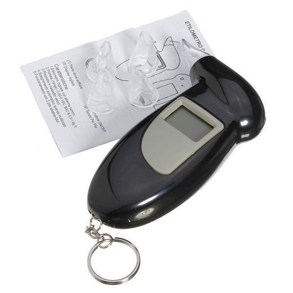 PFT-68S Digital LCD Breath Alcohol Analyser Tester Detector Key Chain Breathalys - US$5.99