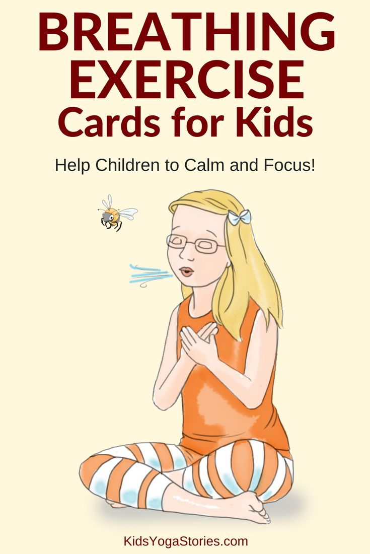 40 Breathing Exercise Cards for Kids: Don't forget to breath! Help children to calm down and focus! Practice any one of these forty breathing techniques to release stress and tension. Help your children feel calm and focused with breathing exercises like Balloon Breath, Bee Breath, and Bunny Breath. Download these Breathing Exercise Cards to use in your home, classroom, or studio. Index, Breathing Exercise Tips, and Breath Instructions are included. | Kids Yoga Stories