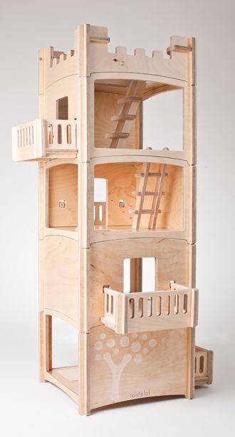 Dollhouse blocks, fort or villa, flexibility follows the imagination