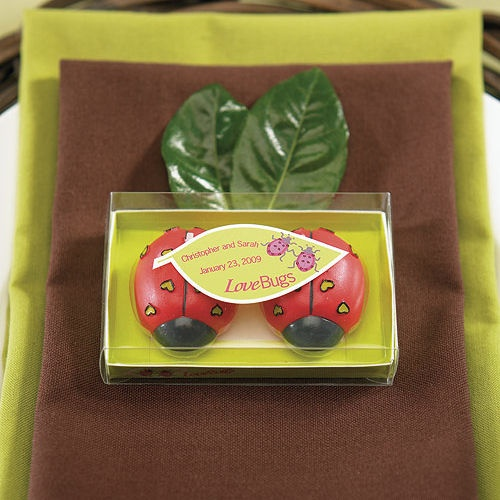 Cute  Love Bugs  Candle Wedding Favors