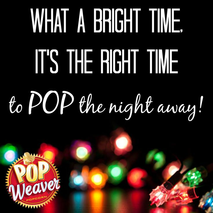 Christmas time means lots of holiday snacks and goodies, including #popcorn! Though we believe it's always the right time to pop your favorite Pop Weaver Popcorn!