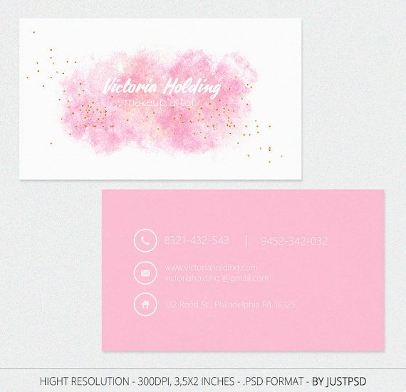 Free Customize Pink Business Card Calling For Make By JustPSD