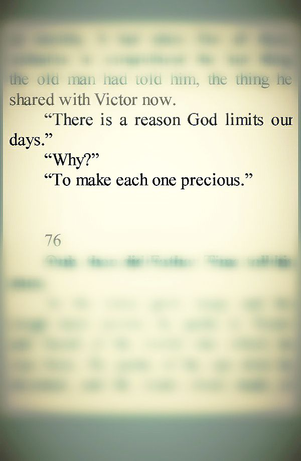 the Time Keeper- mitch albom, I read this book. Best quote!
