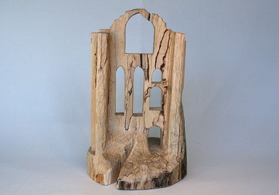 Log Carving of Fountains Abbey (National Trust), North Yorkshire available from my Etsy shop.