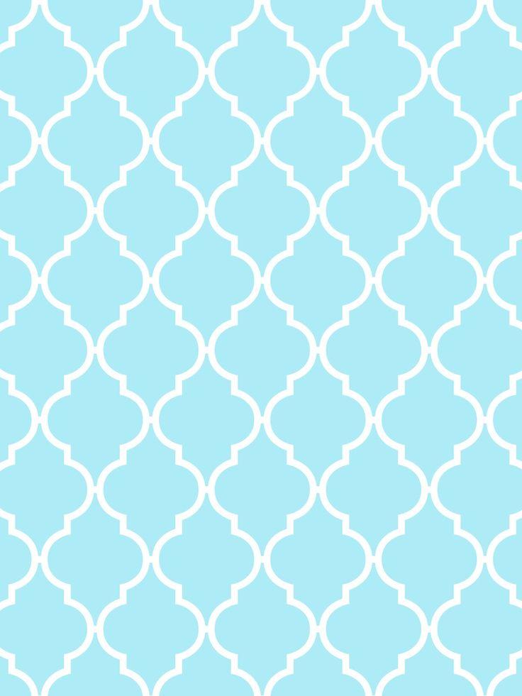 Make it...Create--Printables & Backgrounds/Wallpapers: Quatrefoil...Aqua & White