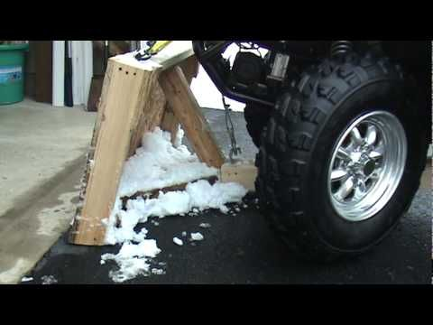 HOW TO HOMEMADE ATV SNOW PLOW - YouTube