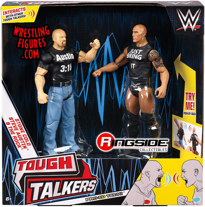 The Rock & Stone Cold Steve Austin - WWE Tough Talkers 2-Packs Series 1 WWE Toy Wrestling Action Figures