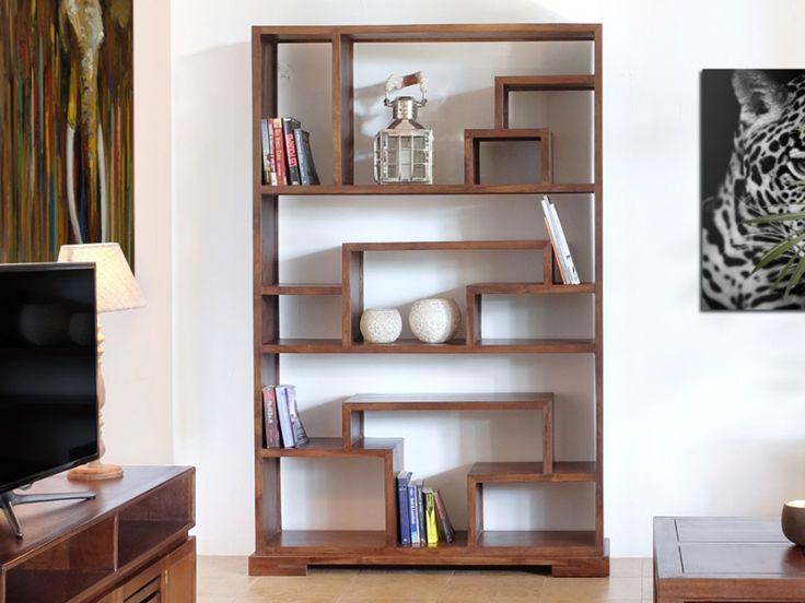 Regal Raumteiler Holz Massiv Bombay II Günstig Kaufen