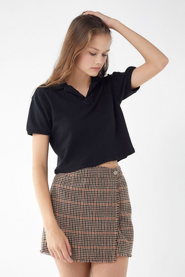 a6589eaa73c Slide View: 4: Urban Renewal Remade Overdyed Cropped Polo Shirt Polo Outfit,  Tweed