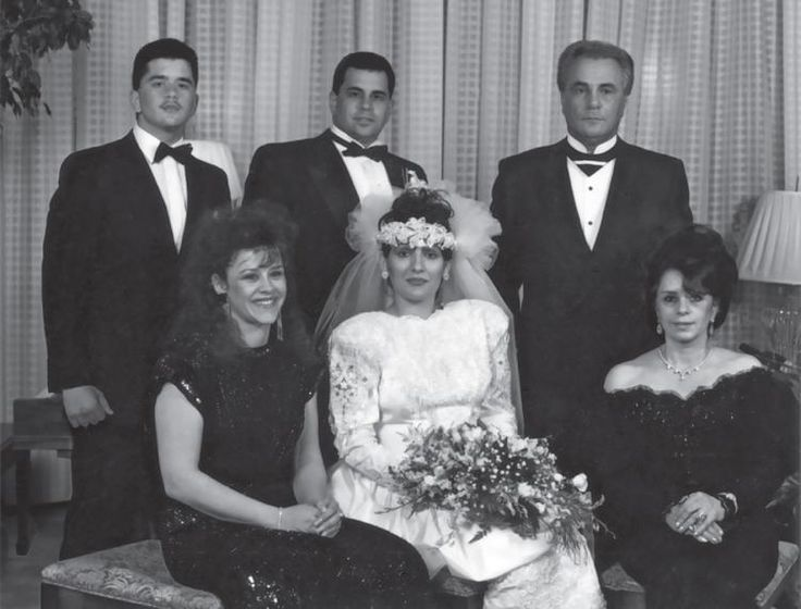 The family at Junior's wedding in 1990