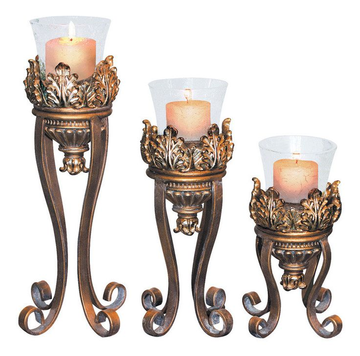 Ok Lighting ROYAL VICTORIAN CANDLEHOLDERS (SET OF 3) OK-2945-31