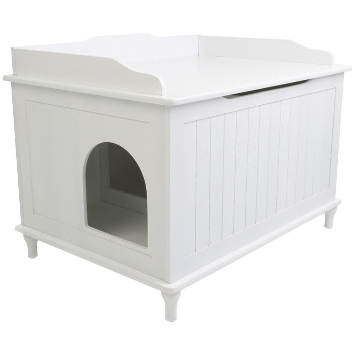 Ace Litter Box Enclosure In White