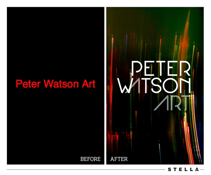 Before and After of the #branding of a fantastic artist