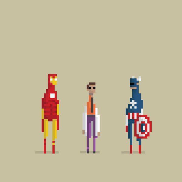 Icónicas escenas de películas animadas con pixeles #gif animado