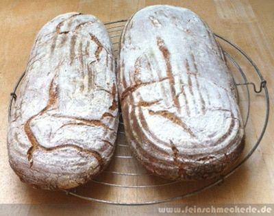 Diese Woche war das Brot ganz nach meinem Geschmack: das Roggenschrotbrot nach Cucina Casalinga. Ich hatte noch genügend Roggenschrot und mag diese saftigen, leicht kernigen Brote richtig gerne. Während Frau Schwaka und Frau Küchenlatein ein properes Biohähnchen mit Limetten veredelten, hielten Frau excellensa und Frau cucina casalinga die #twitback-Stellung. Am Vorabend wurden Quellstück und Sauerteig angesetzt: Quellstück: 235 g Roggenschrot (mittel, meiner war eher fein) 235 Wasser 13g…