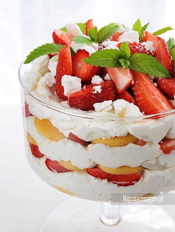 #Trifle truskawkowe #przepis #deser #ciasto #najsmaczneijsze #food #cake #desserts