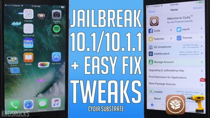 How To Install & Fix Tweaks iOS 10.1 - 10.1.1 Jailbreak Cydia Substrate ...
