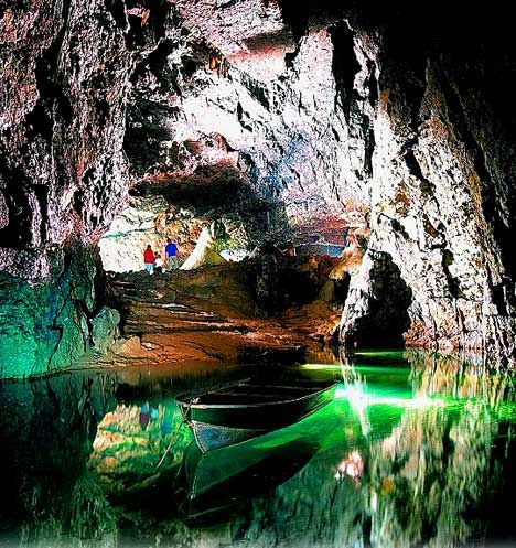 Wookey Hole caves , near Wells Somerset, England.  Everyone should visit these caves, breathtaking!