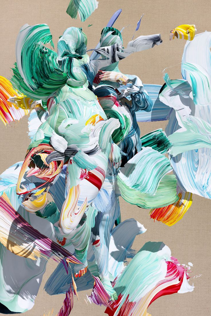 It's Nice That | Amazing digital brushstrokes and figures in Matthew Stone's new Healing with Wounds series