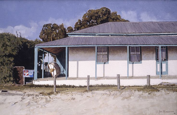 Beach House, Langebaan, oil on canvas. Artist John Kramer. www.johnkramer.net