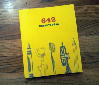 i love the idea of this book.  it's just a blank book with prompts and spots for your drawings.  What a neat idea!... makes me want to pick up an artist's sketchbook and start brainstorming simple things to draw.