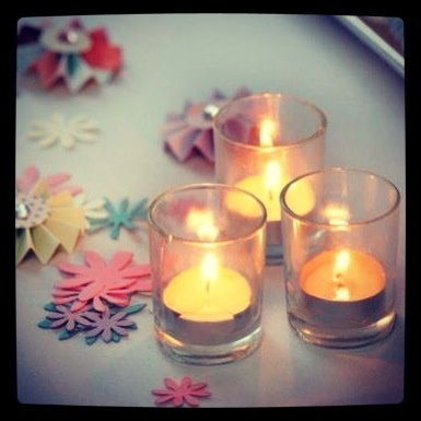 Candles at our wedding