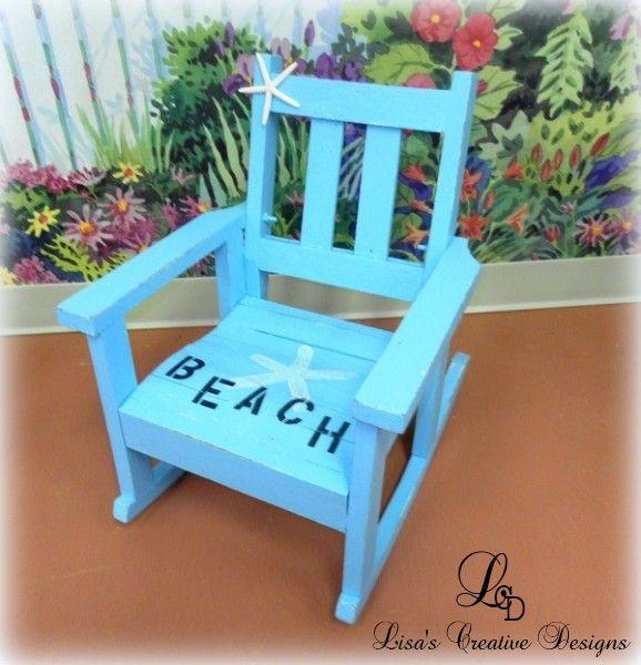 A Shabby To Chic Beach Rocking Chair Makeover & Master Bedroom Update  #beachcottagedecor #kid'srockingchair #kiddierockingchair #shabbychicbeachdecor #thriftstoremakeover #upcycledrockingchair