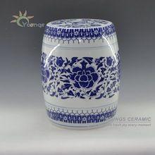 Chine fantaisie bleu et blanc en céramique jardin tabourets pour Home Decor H16''(China (Mainland))