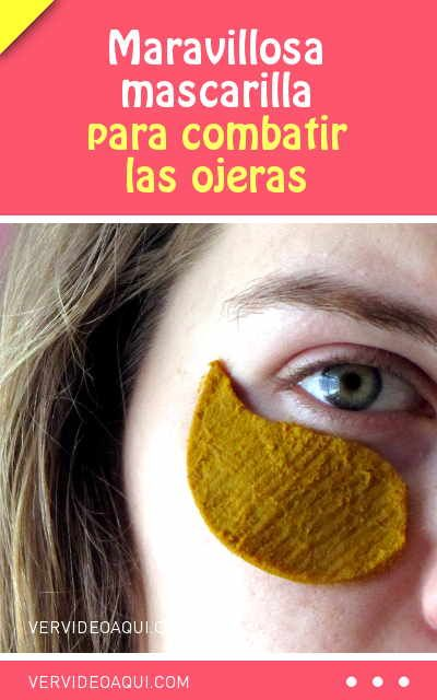 Maravillosa mascarilla para combatir las ojeras. Sólo 2 ingredientes de tu cocina