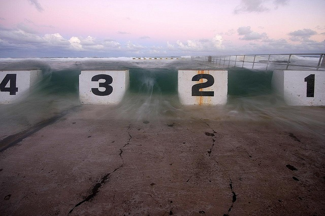 Wall of water  Merewether Ocean Baths, Newcastle NSW
