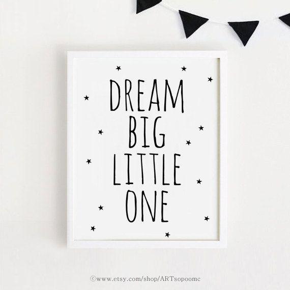 Träumen von großen wenig eine druckbare Quotes Poster Zeichen