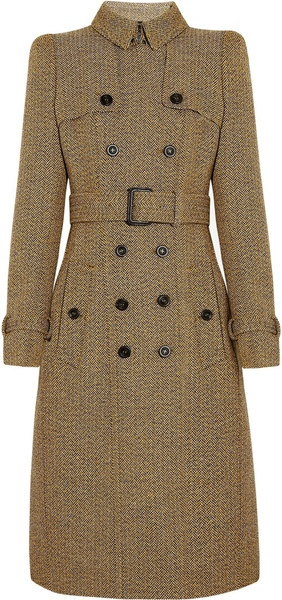 BURBERRY   Wooltweed Trench Coat