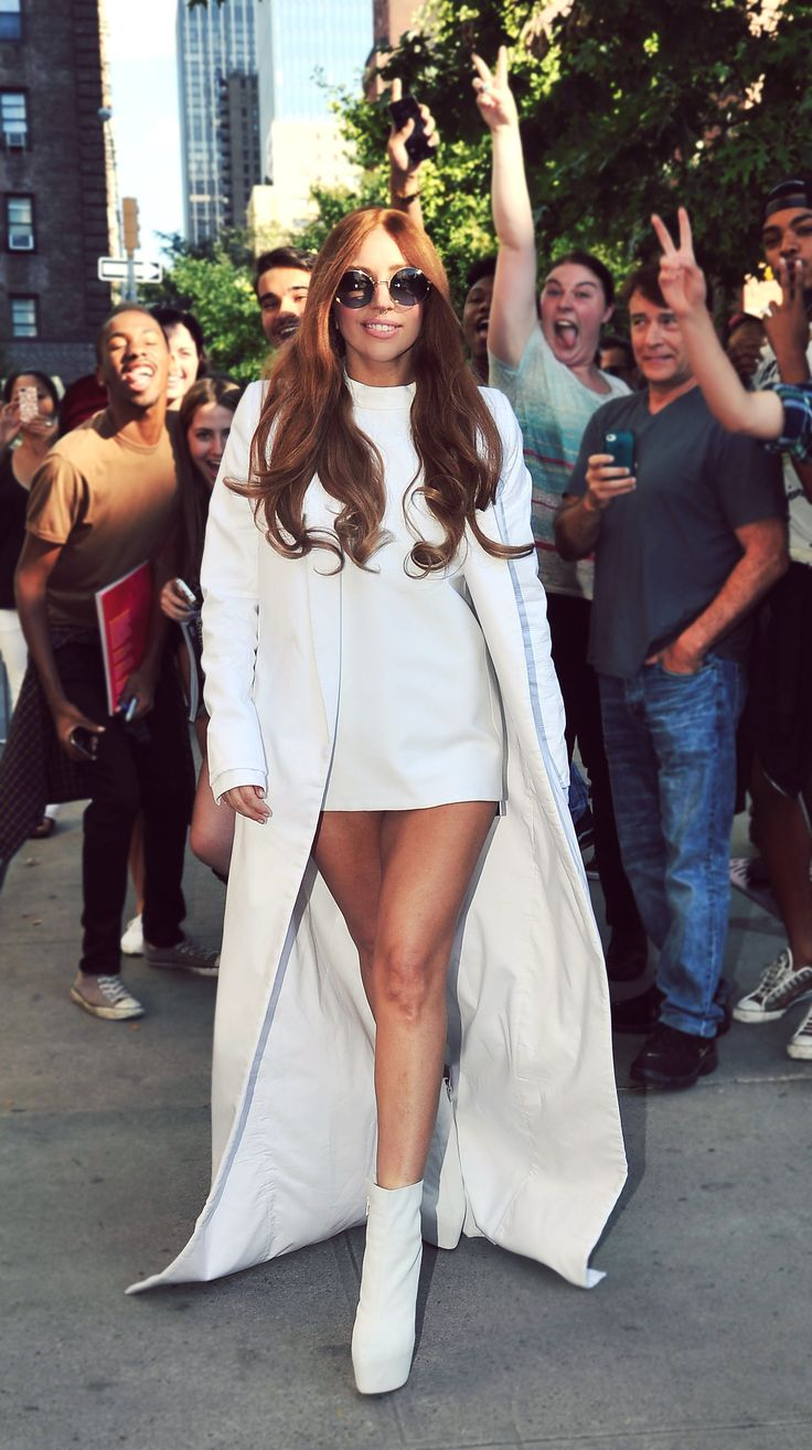Lady Gaga in white- LOVE that hair on her, it makes , me love looking at her face.