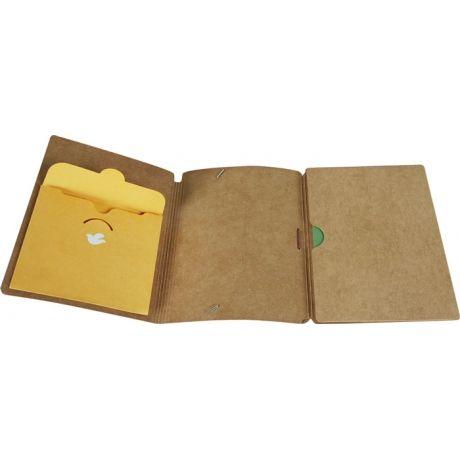 Brown Paper Folder From Poketo.