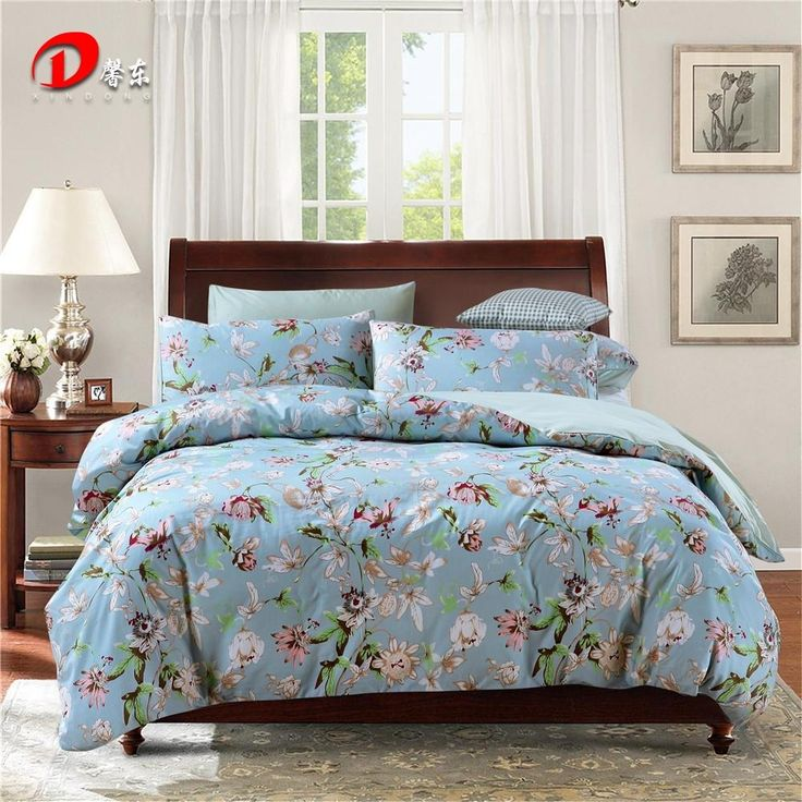 luxury satin bed linen egyptian cotton bedding set king queen size coloful floral high quality bed