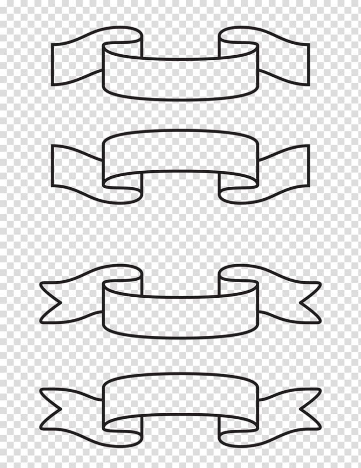 Ribbon Drawing White Banner Transparent Background Png Clipart Drawings Clip Art Bullet Journal Banner