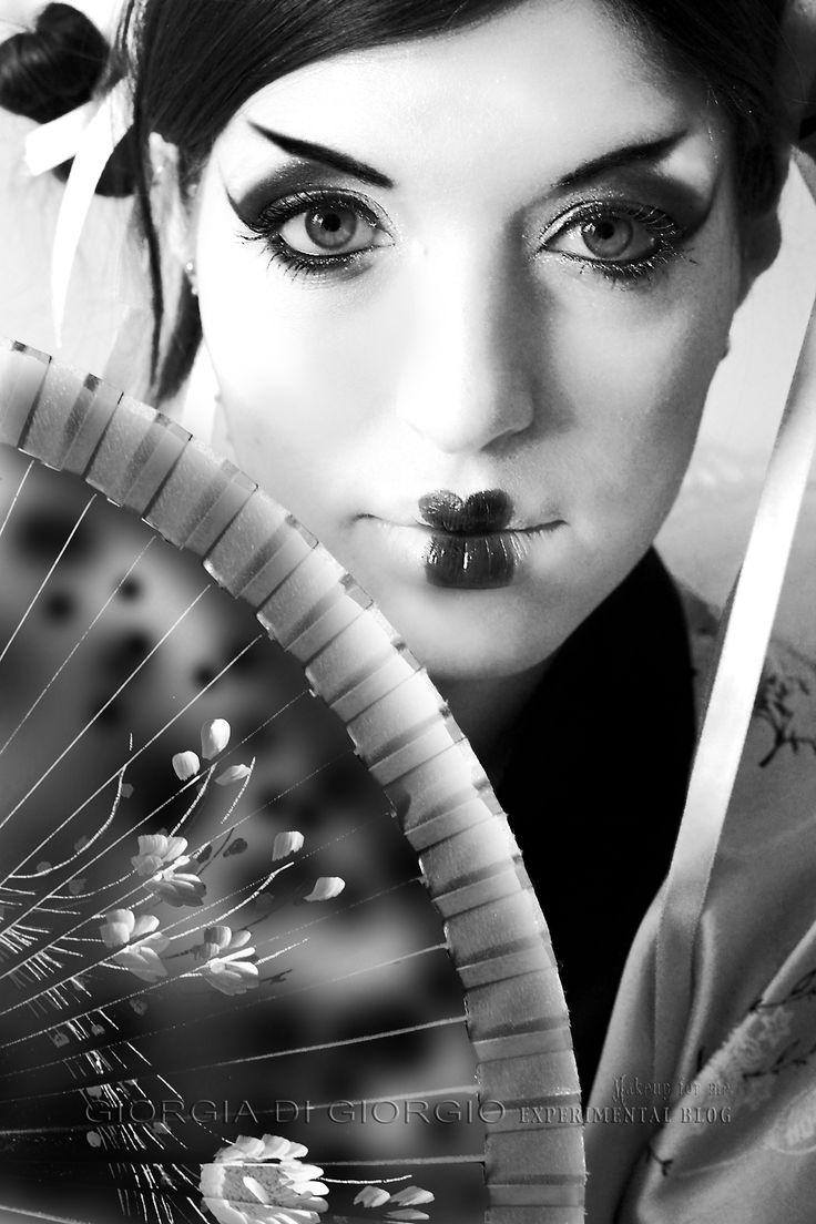B/W FUJI SPIRIT make up concept make up - Photo, Edit by Giorgia Di Giorgio