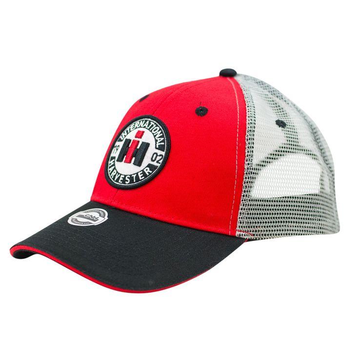 International Harvester - Men's Black, Red & White Circle Logo Mesh Back Cap