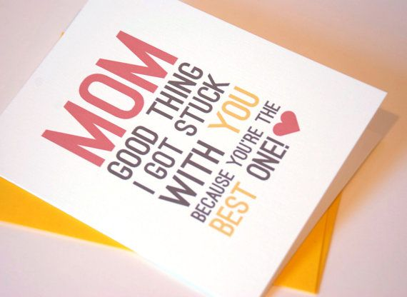 Mother's Day Card  Mom Birthday Card by RowHouse14 on Etsy, $4.25