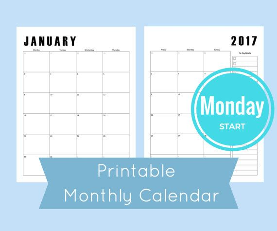 The 104 Best Monthly Calendar Template Images On Pinterest Arc