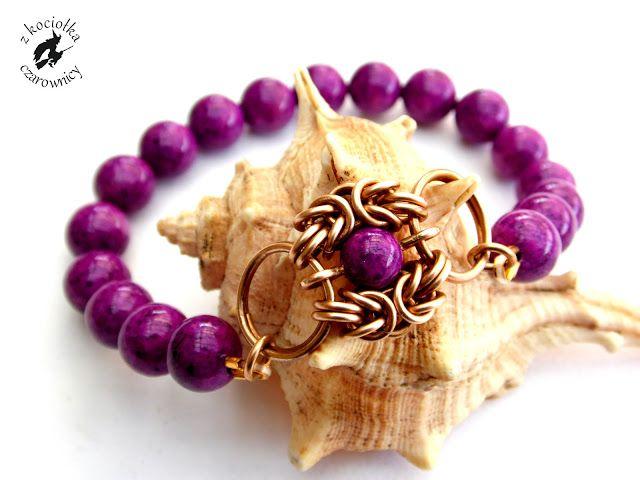 Z kociołka czarownicy: Nadal nie mogę zrozumieć... - stretch bracelet with chainmaille Romanov unit
