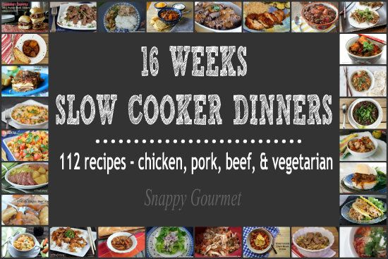 16 weeks of slow cooker dinner recipes perfect for back-to-school weeknight dinners! Yes, that's right, 112 quick crockpot recipes including pork, chicken, beef, and vegetarian recipes. Weeks and w...