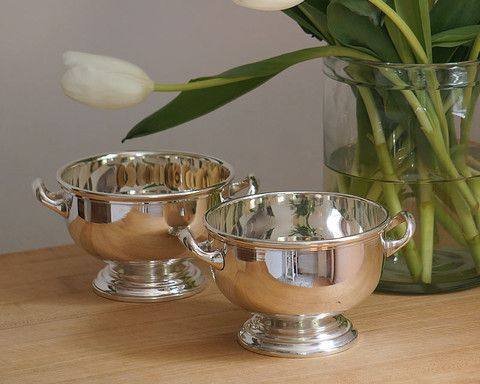 cassandras kitchen hotel footed silver bowl with handles
