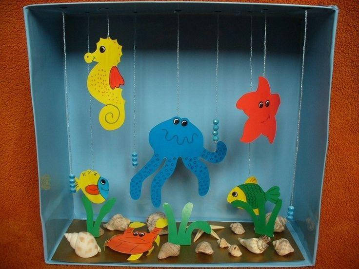 Аквариум в коробке - Поделки с детьми   Деткиподелки