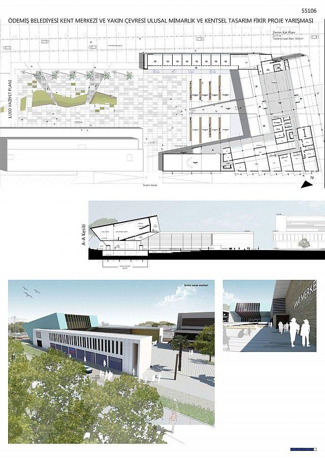 1. Ödül, Ödemiş Belediyesi Kent Merkezi ve Yakın Çevre Ulusal Mimarlık ve Kentsel Tasarım Fikir Proje Yarışması